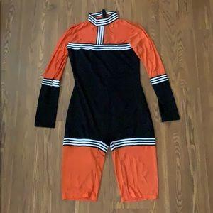 Black And Orange Romper